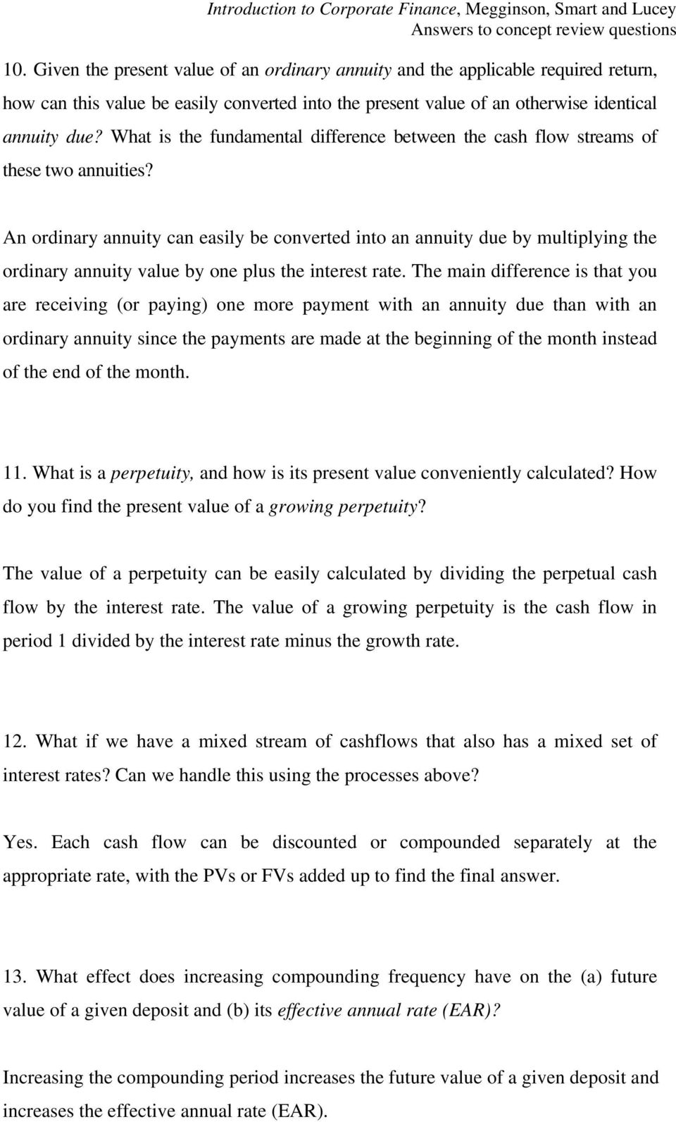 2 how would a a decrease in the interest rate or b an increase