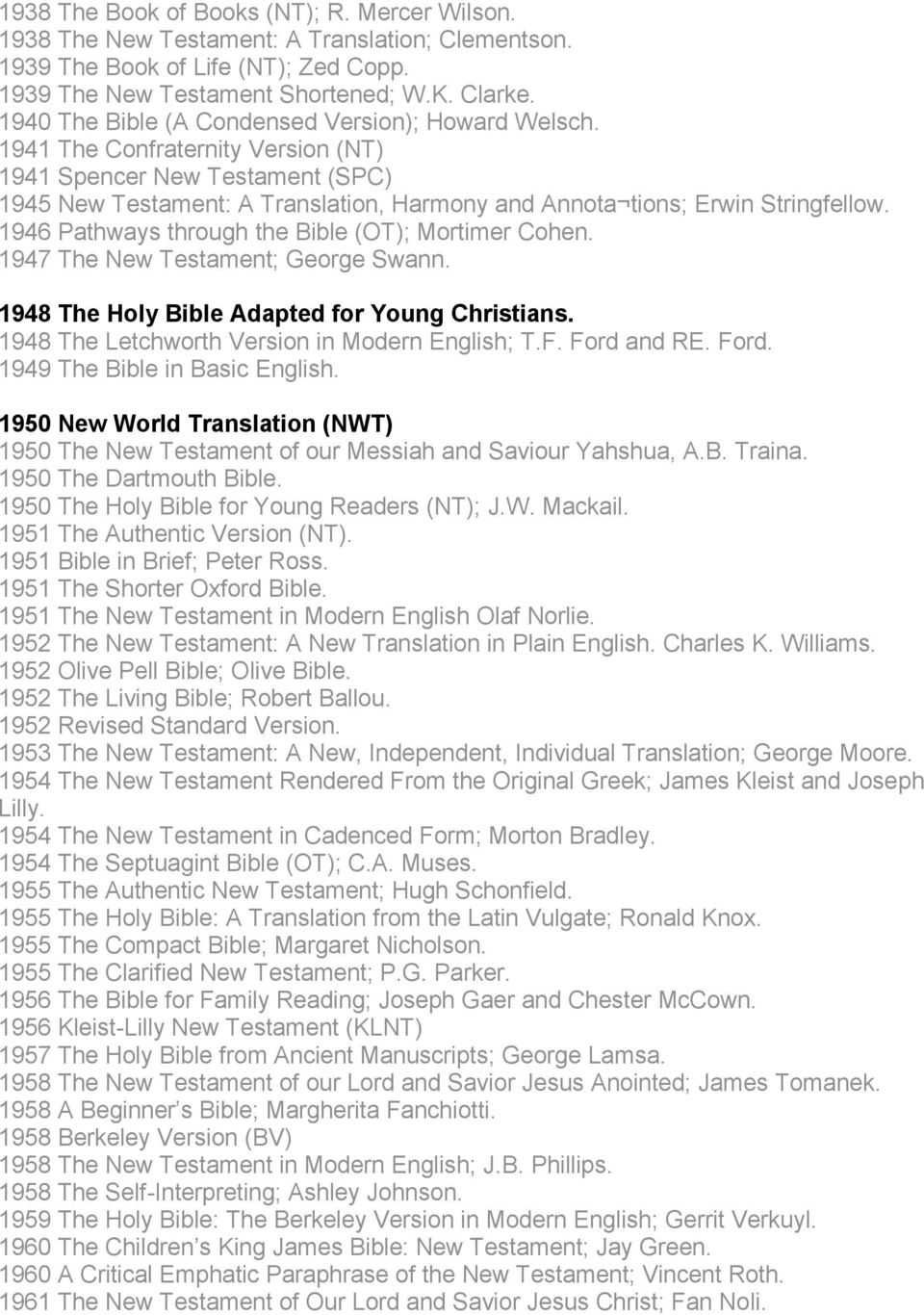 THE MANY FALSE BIBLE VERSIONS SINCE 1881 ON THE MARKET TODAY - PDF