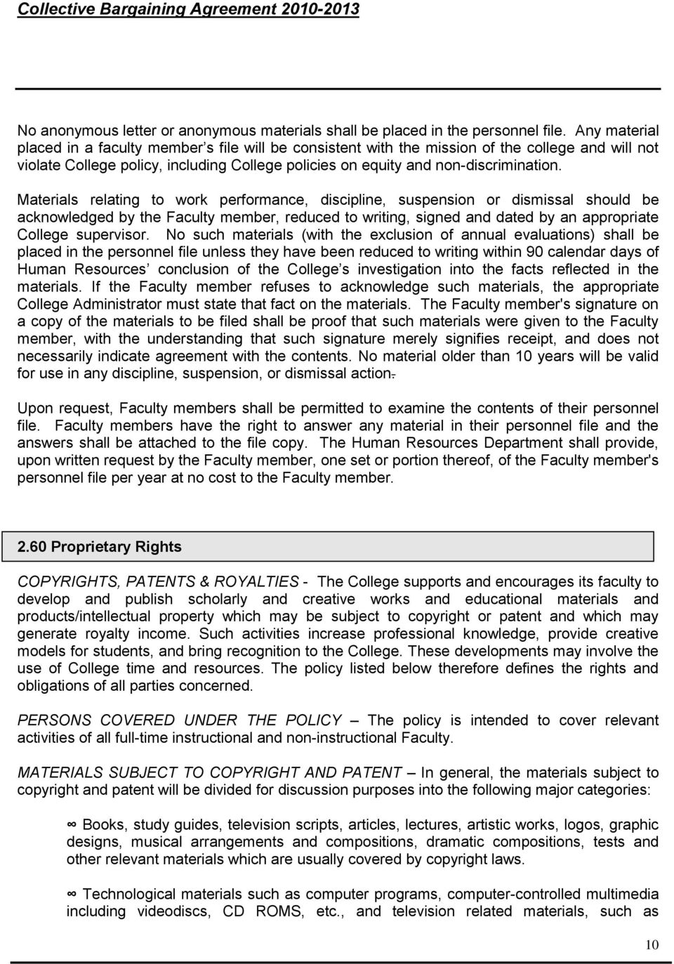 Collective Bargaining Agreement Between The Board Of Trustees Of