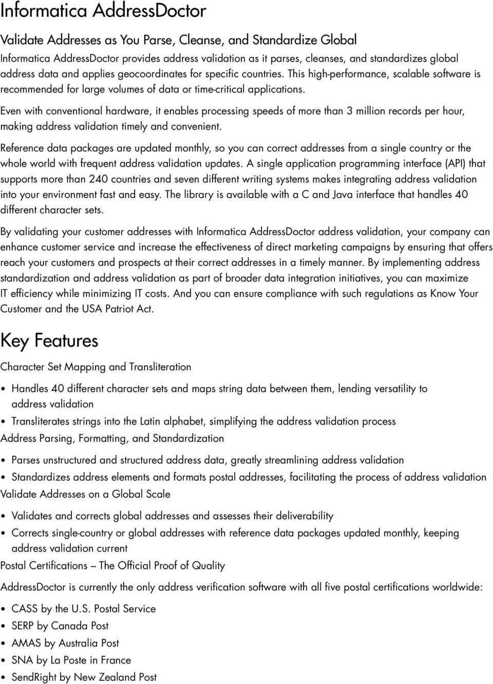 Informatica Data Quality Product Family - PDF