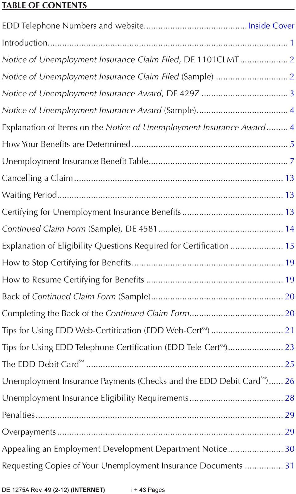 a guide to benefits and employment services
