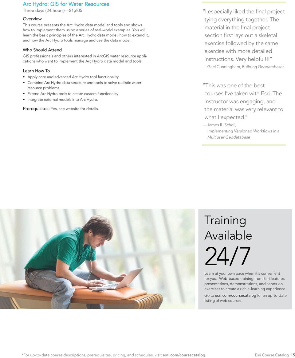 Esri Training  Prepare to Innovate  Instructor-Led Courses