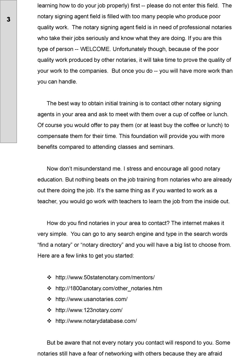 The Free Introductory Signing Agent Training Course - PDF