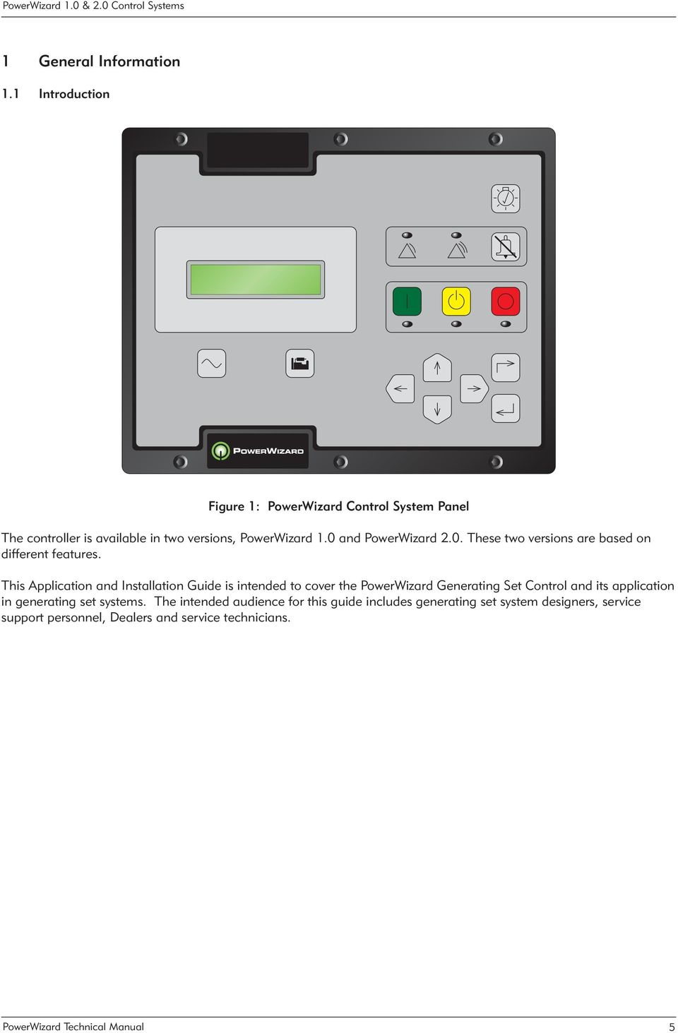 Powerwizard 1 0 Amp 2 0 Control Systems Technical Manual Pdf