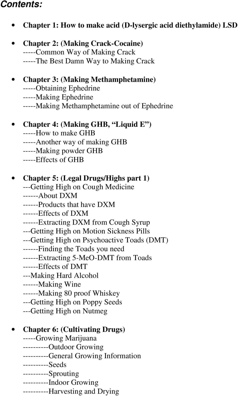The Complete Recreational Drugs Handbook By Anonymous Pdf