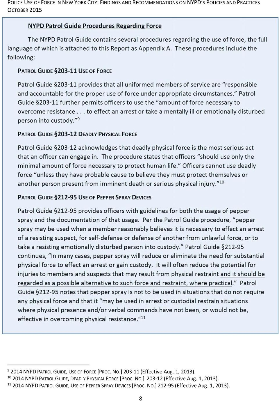 screenshots Array - police use of force in new york city findings and  recommendations rh docplayer net under appropriate circumstances patrol  guide ...