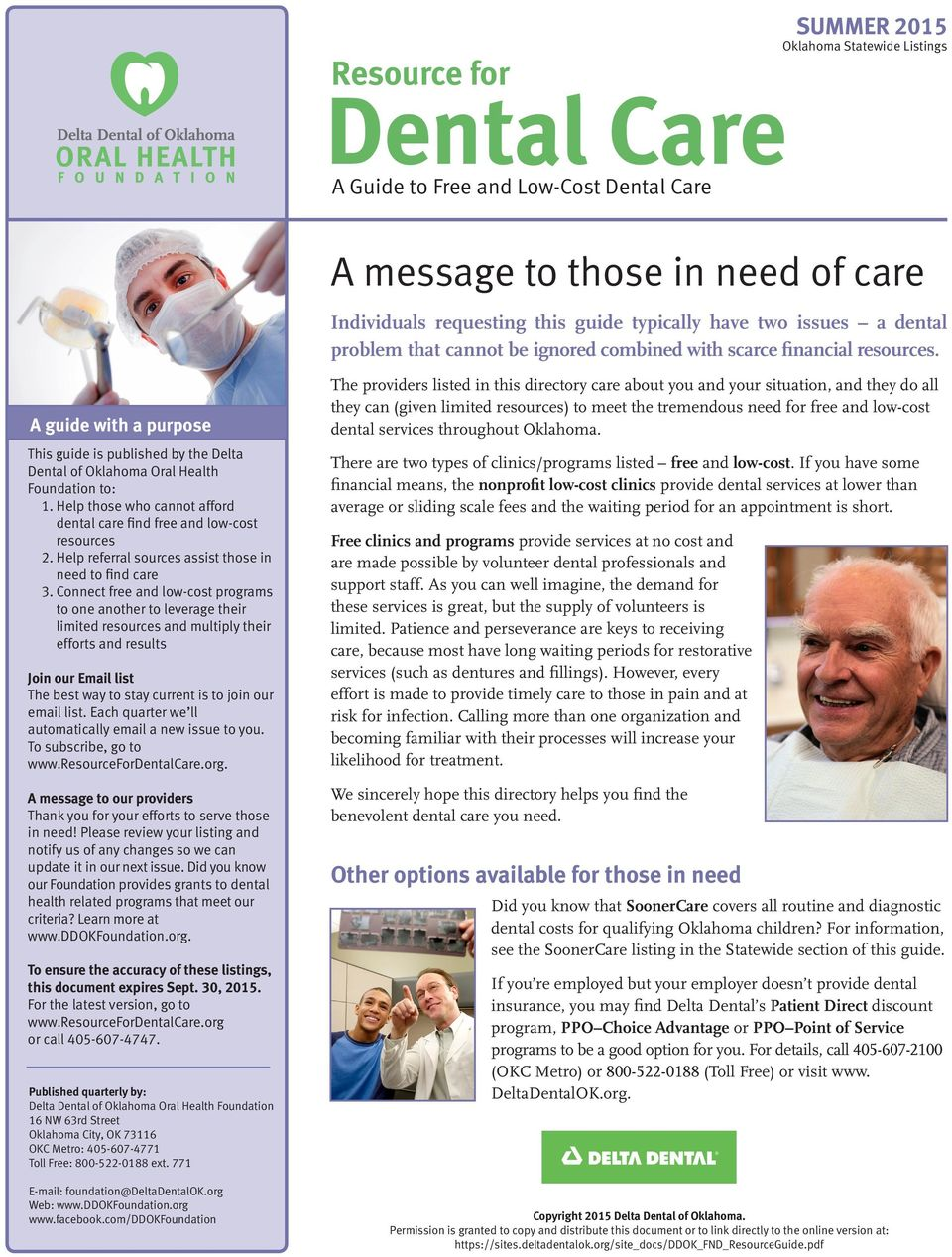 Dental Care  A message to those in need of care  Resource
