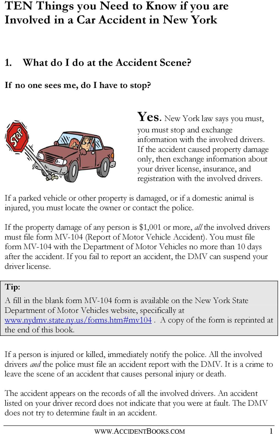 New York State Department Of Motor Vehicles Form Mv 104 Nemetas