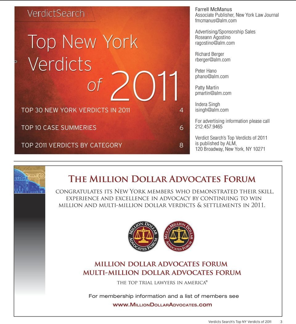 Top New York Verdicts - PDF