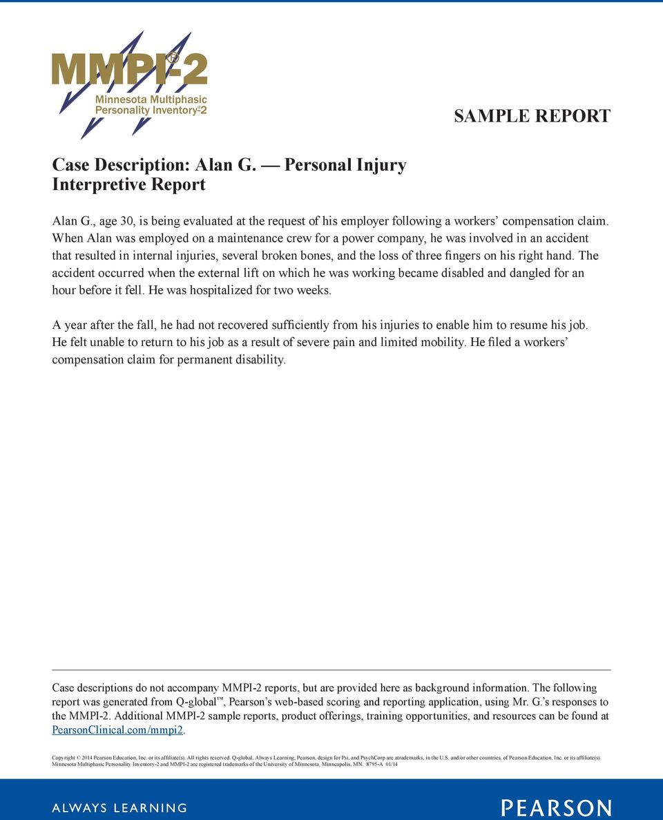 Mmpi-2 personnel reports | pearson assessment.