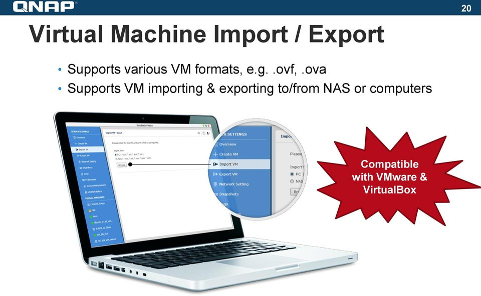 ova Supports VM importing & exporting
