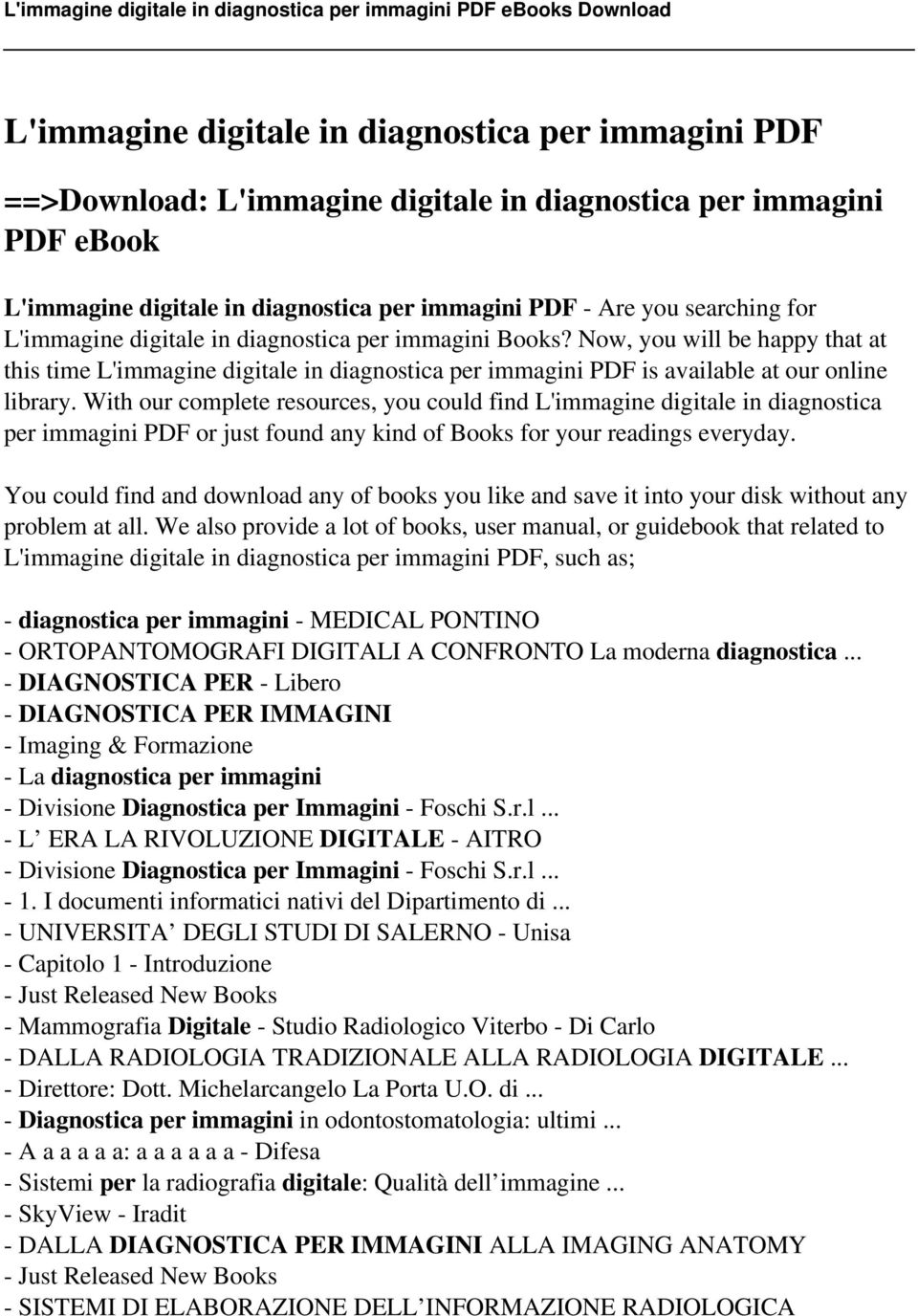 Limmagine digitale in diagnostica per immagini pdf pdf with our complete resources you could find limmagine digitale in diagnostica per immagini fandeluxe Choice Image