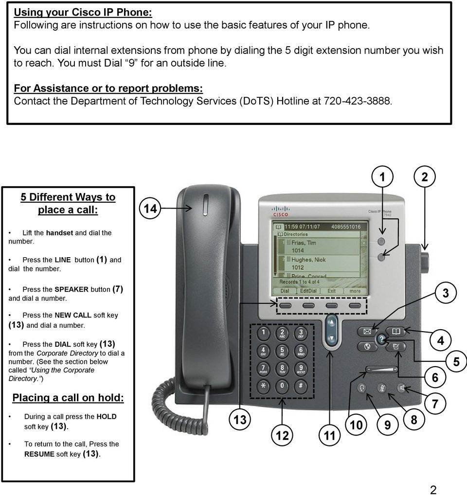 Cisco IP Phone 7942 User Training Guide - PDF