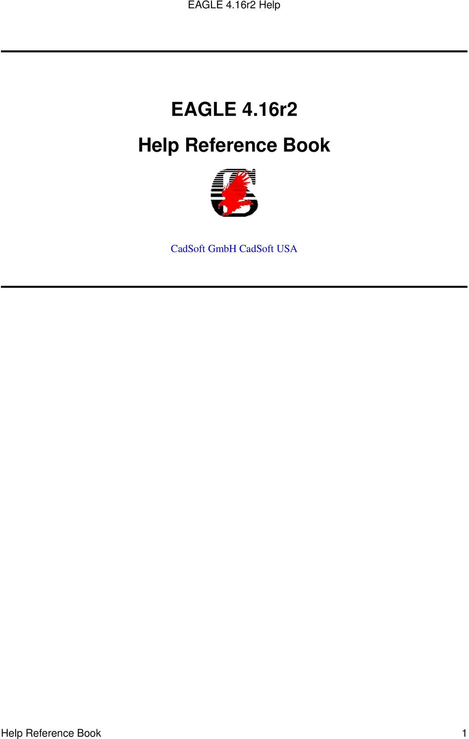 EAGLE 4.16r2 Help Reference Book - PDF
