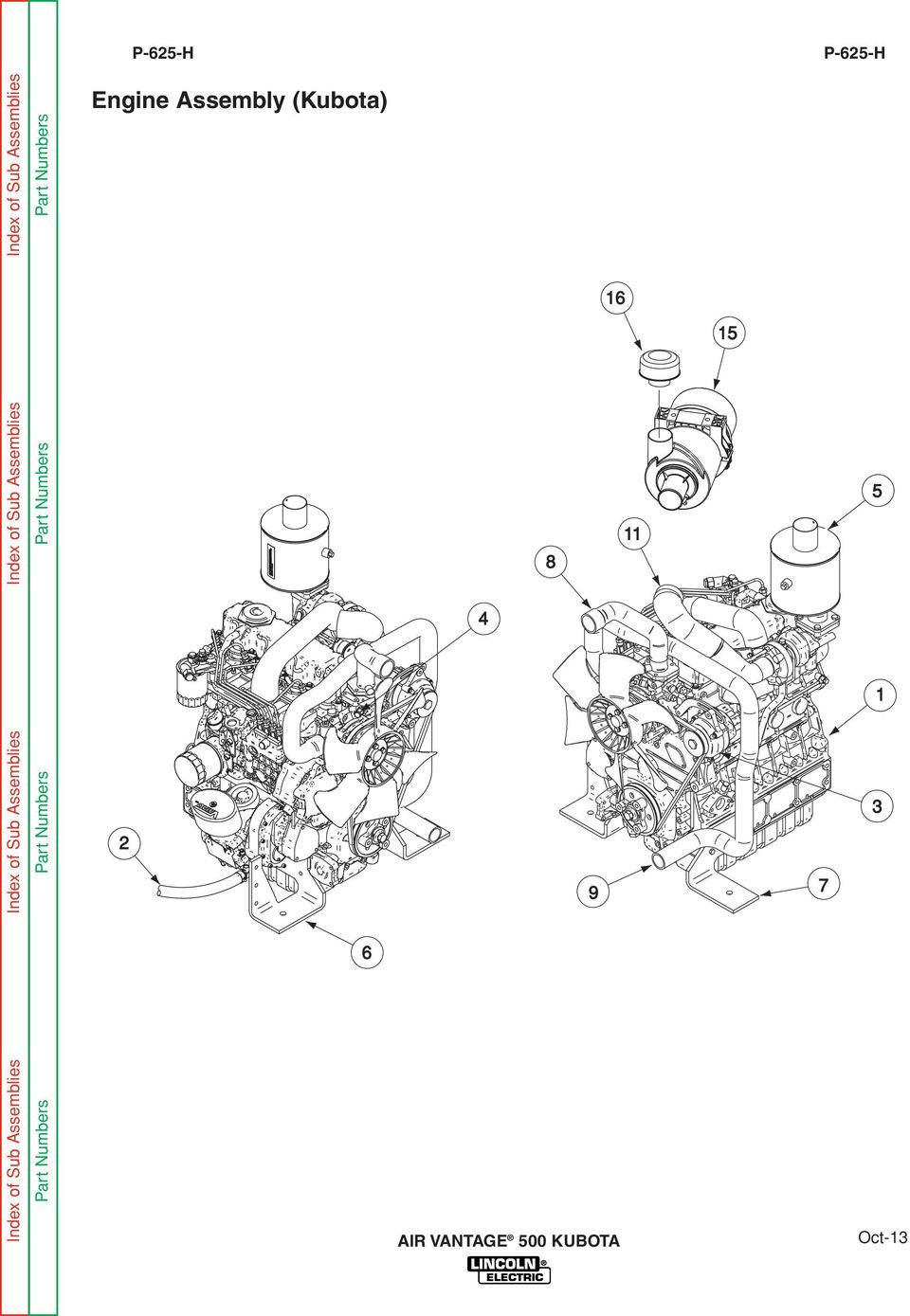 Part Numbers Engine Assembly