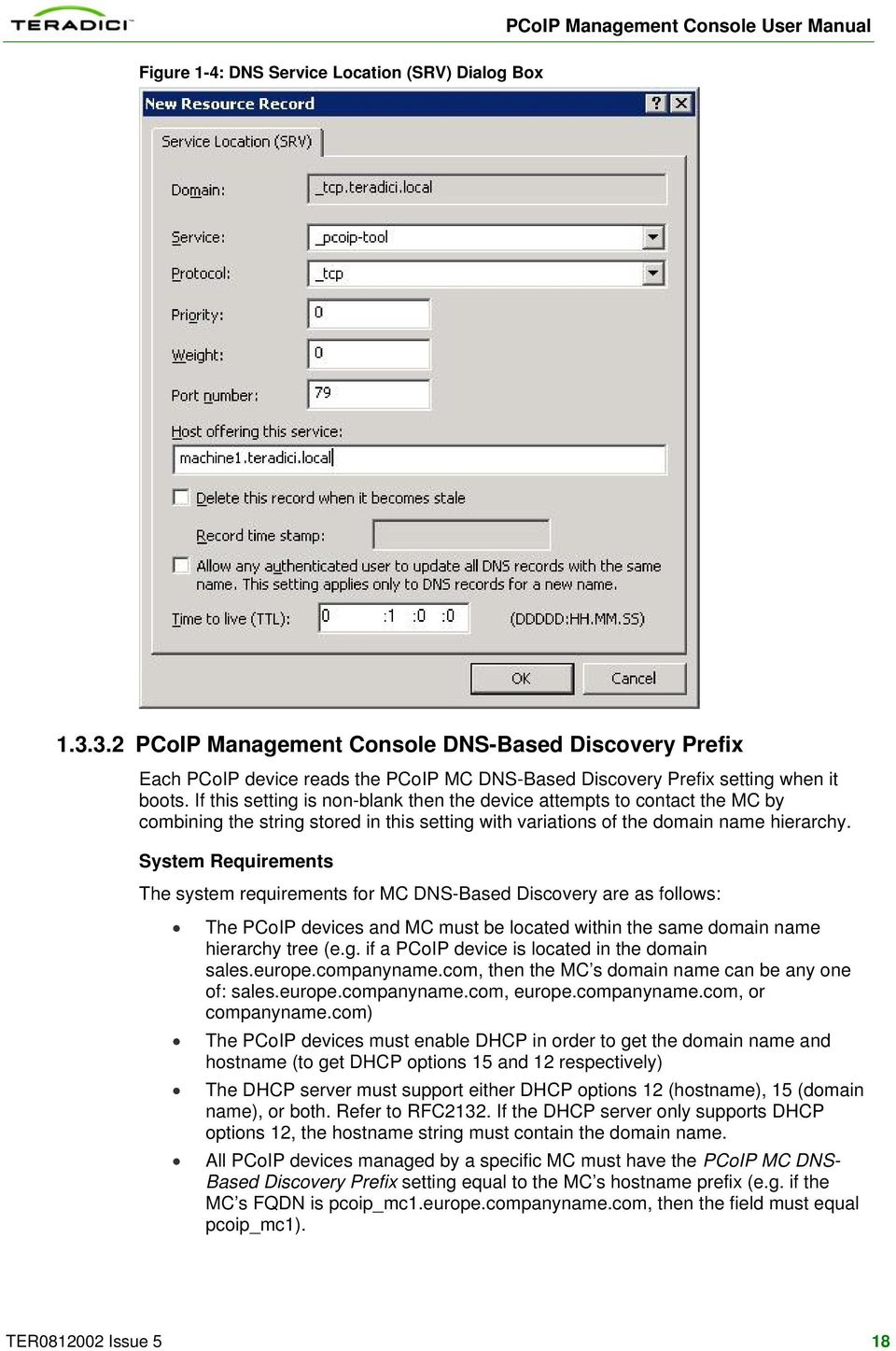 PCoIP Management Console User Manual  TER Issue 5 - PDF