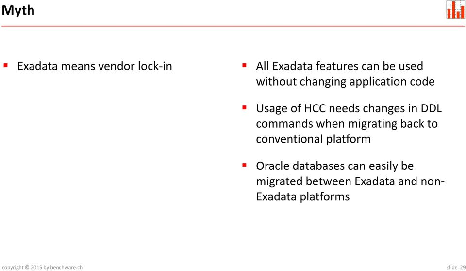 Is there any alternative to Exadata X5? March PDF