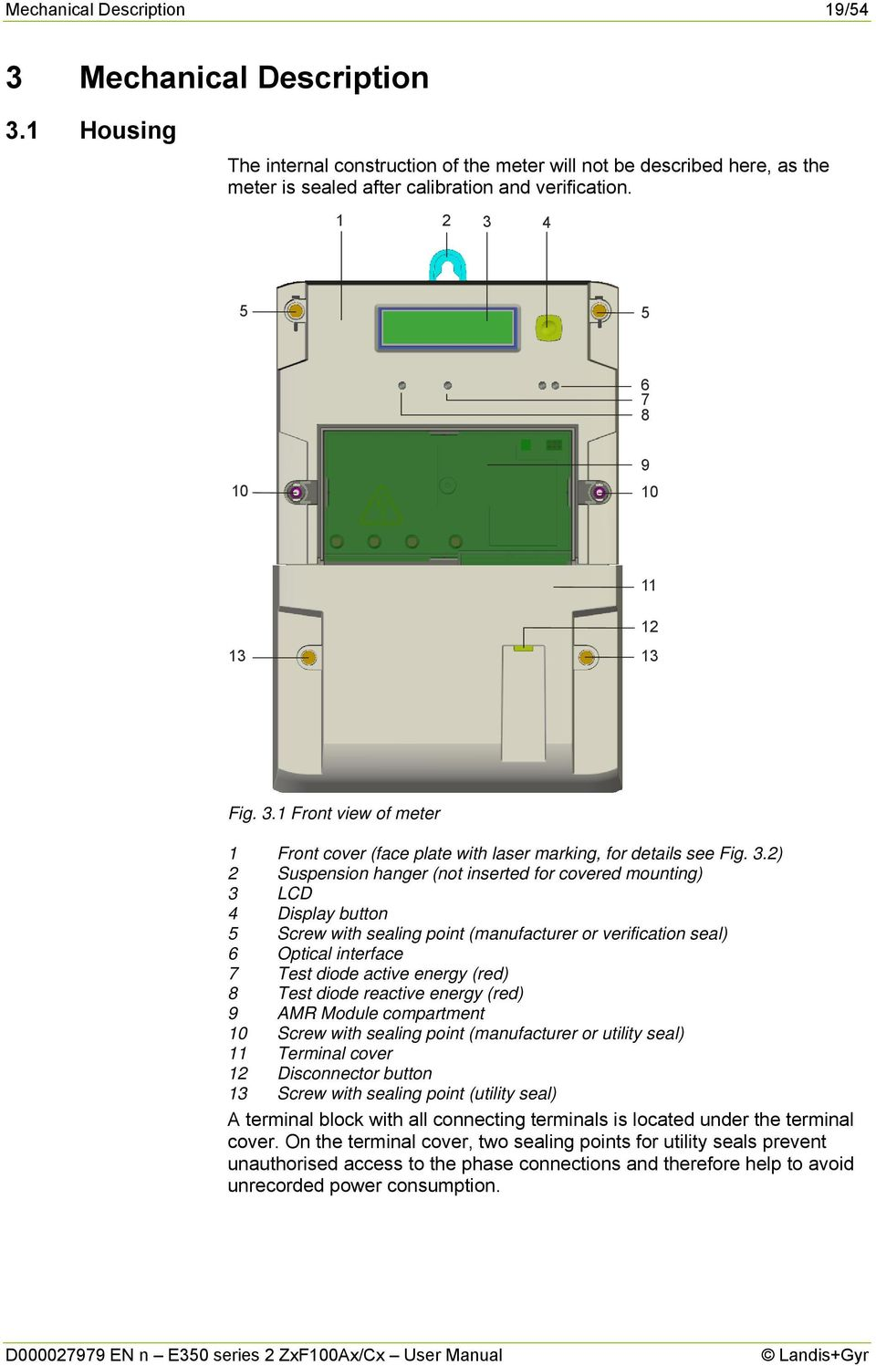 E350 series 2. Electricity Meters IEC/MID Residential. ZxF100Ax/Cx. User  Manual - PDF