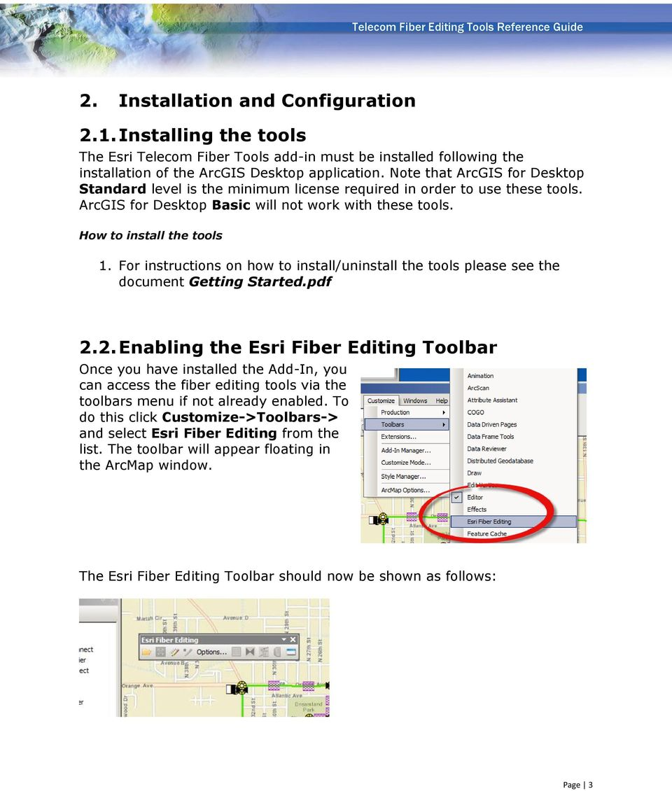 TELECOM FIBER EDITING TOOLS REFERENCE GUIDE Version PDF