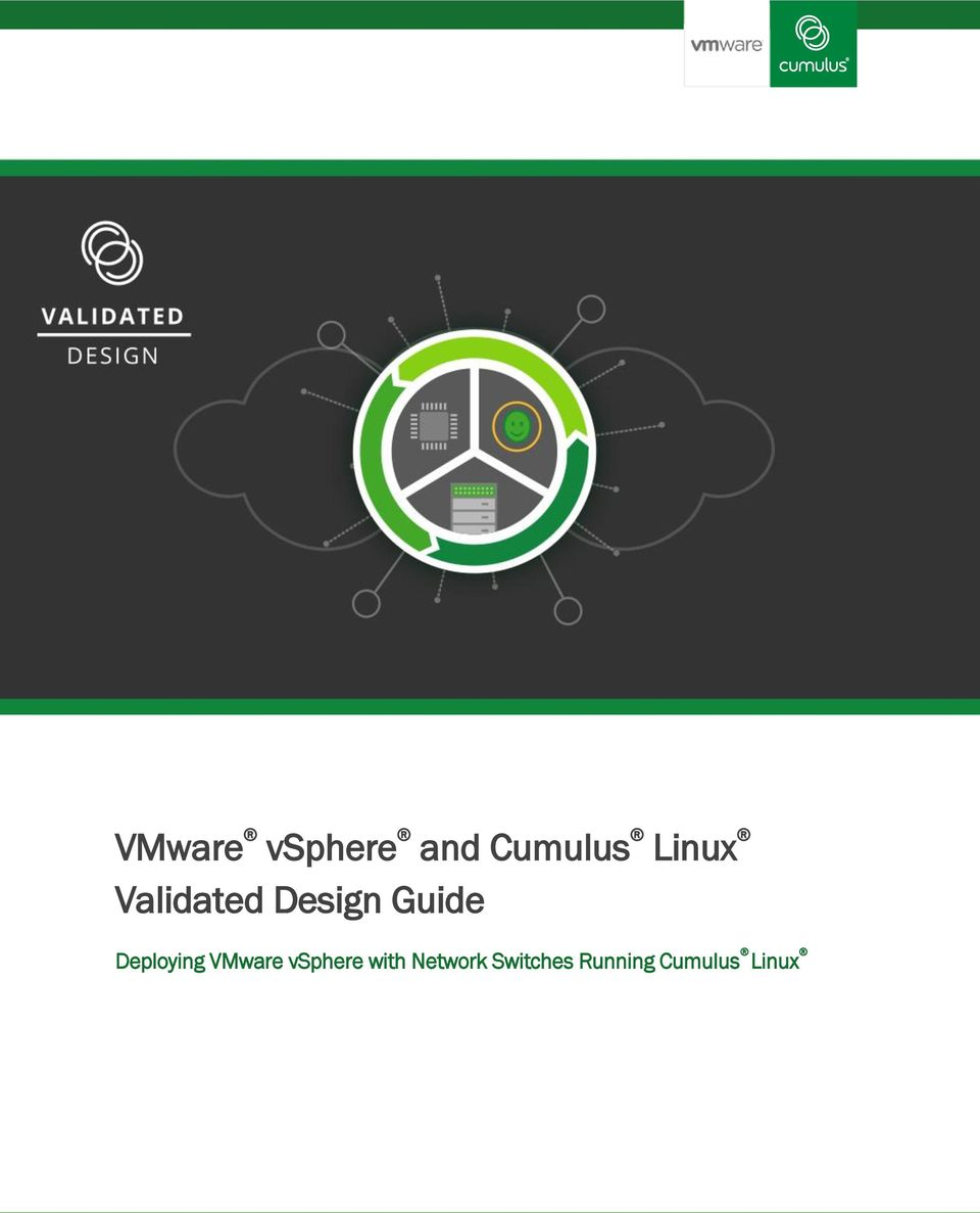 VMware vsphere and Cumulus Linux Validated Design Guide
