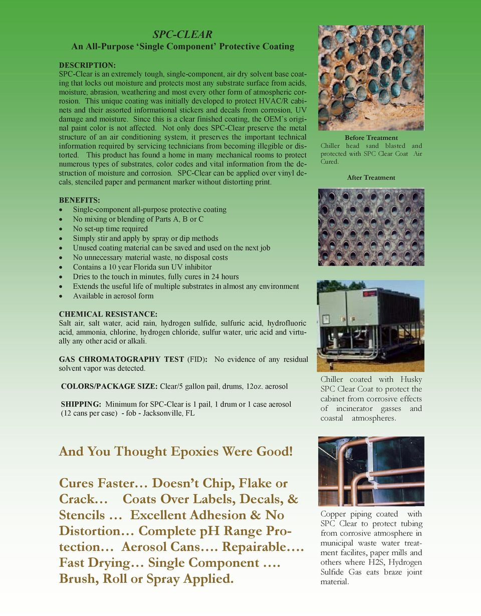 Bronz-Glow s  HVAC/R Coatings  and  Coil Cleaners  For