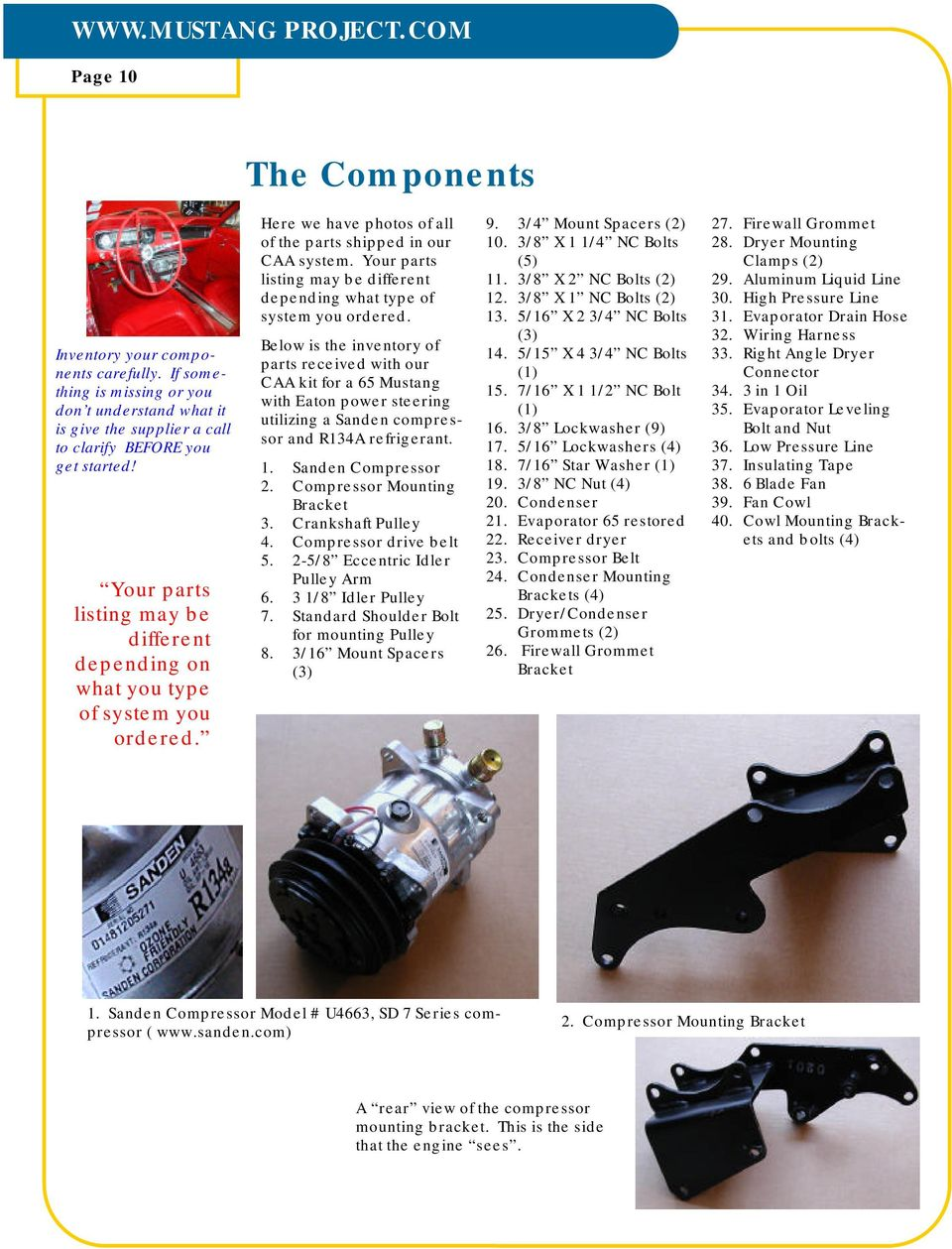 Projectcom Pdf Wiring Harness Firewall Grommet Your Parts Listing May Be Different Depending On What You Type Of System Ordered