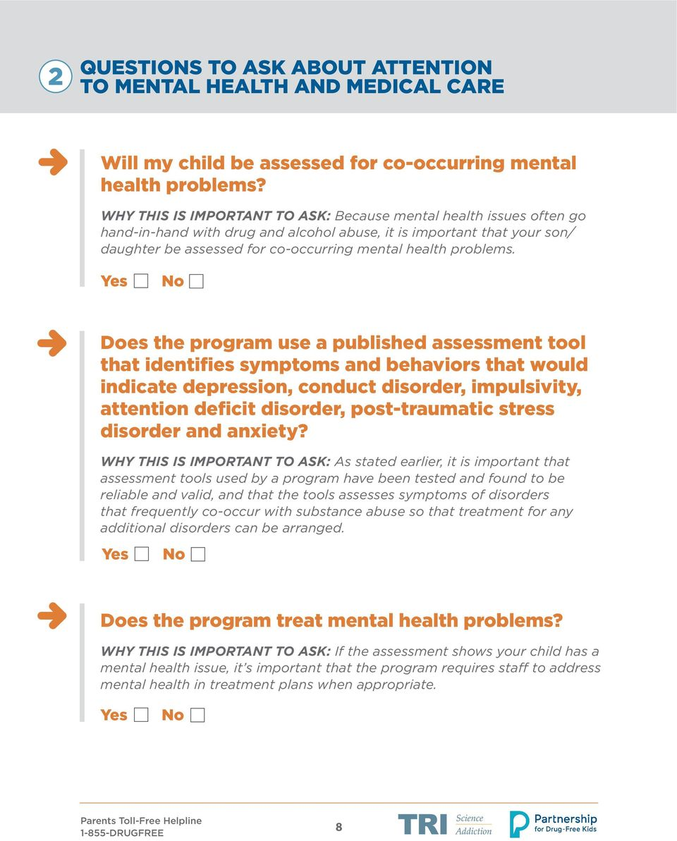 Questions To Ask Treatment Programs Pdf