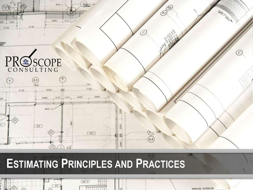 ESTIMATING PRINCIPLES AND PRACTICES - PDF
