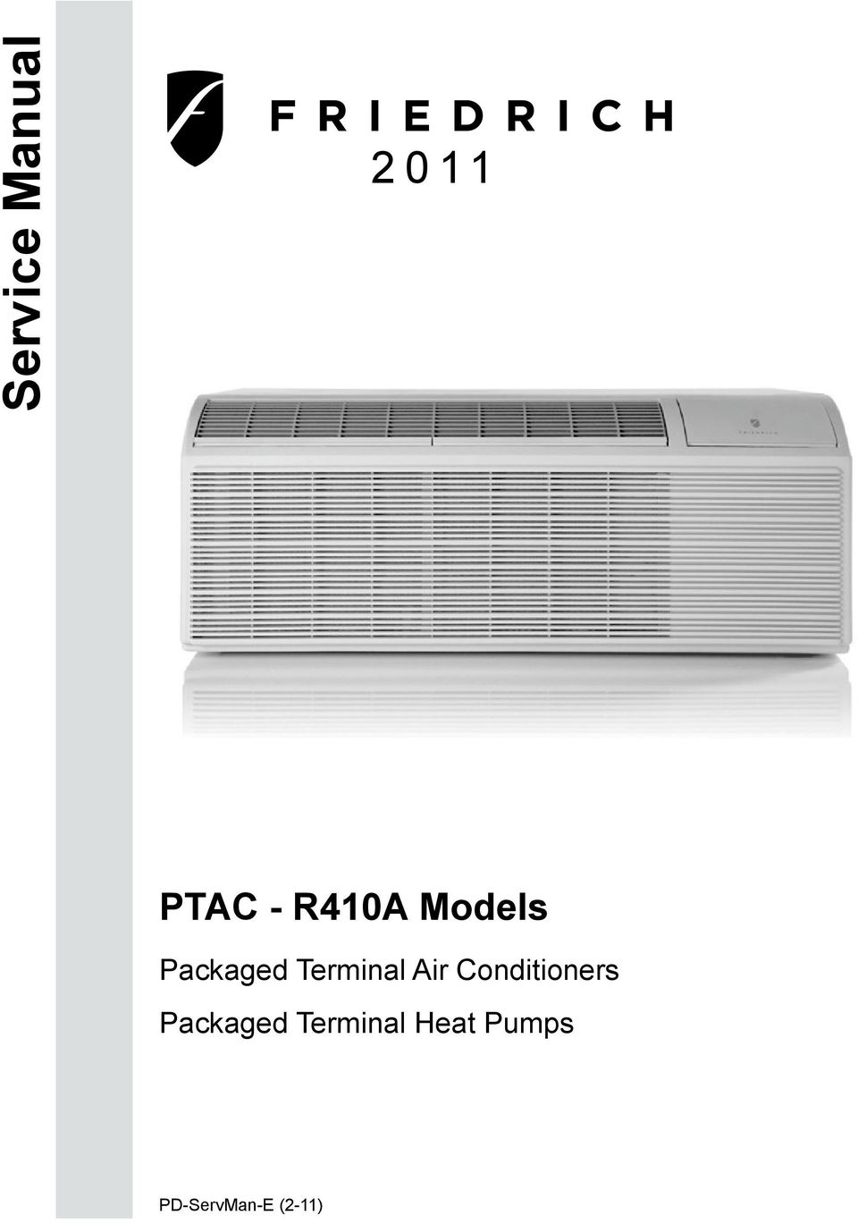 Service Manual Ptac R410a Models Packaged Terminal Air Friedrich Thermostat Wiring Diagram Conditioners