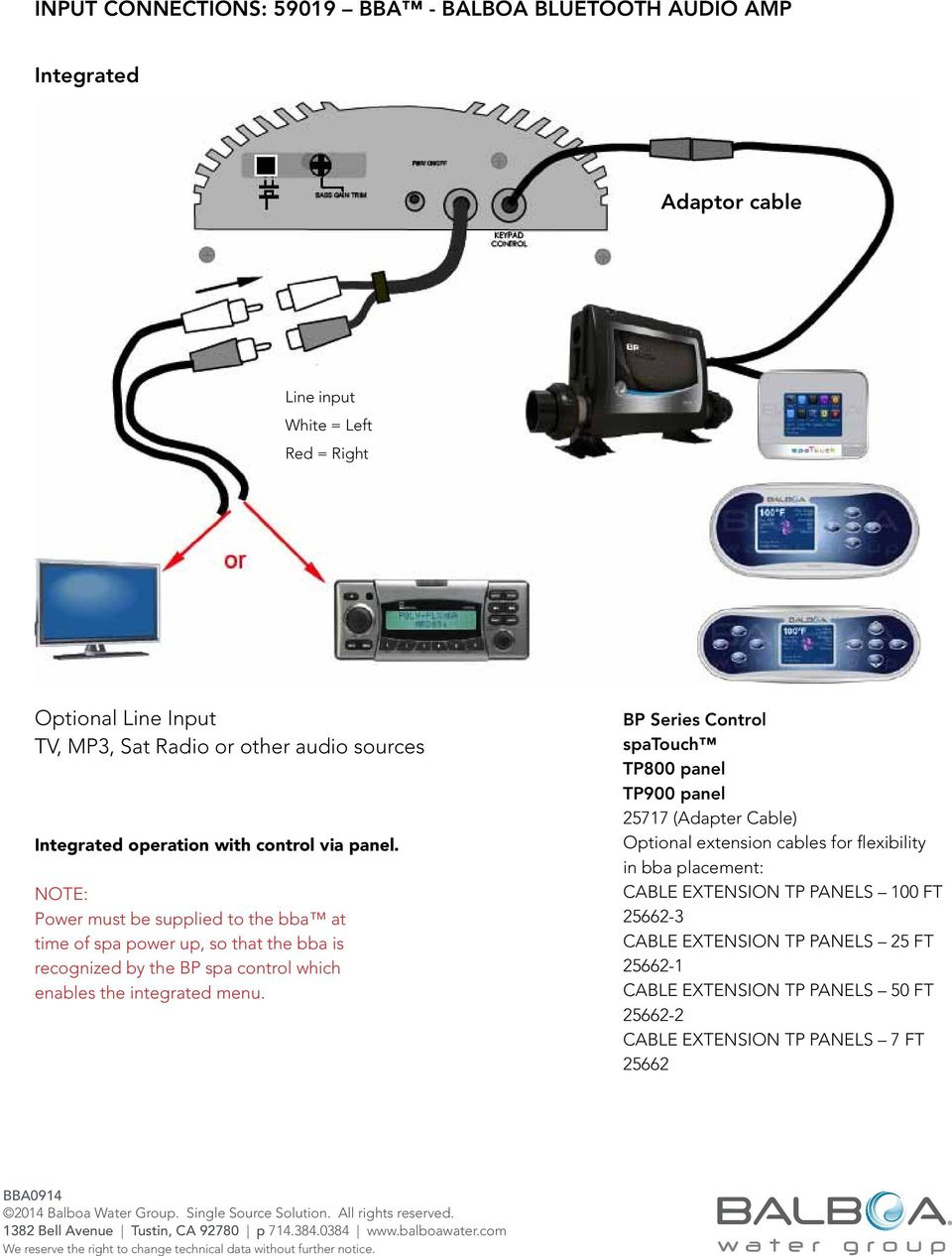 bba - Balboa Bluetooth Audio (AMP) Installation & User Guide - PDF Balboa Spa Installation Wiring Diagram Tp on