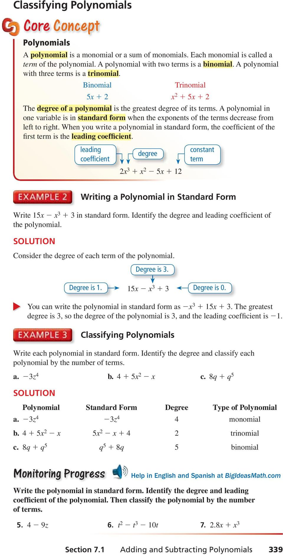 Polynomial Equations And Factoring Pdf