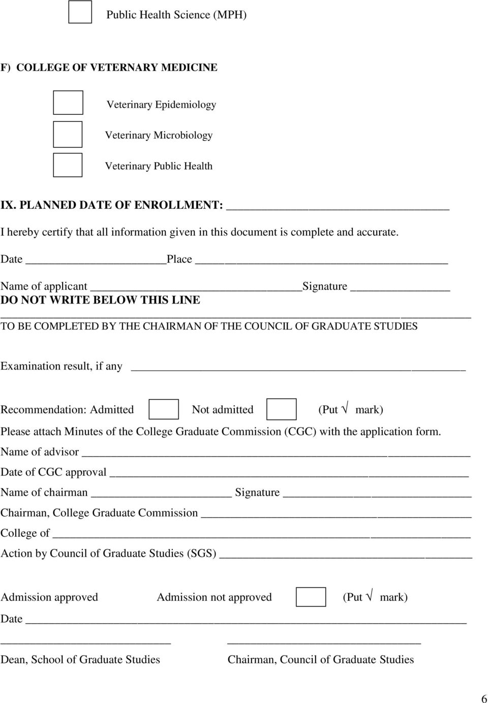 APPLICATION FOR ADMISSION OF GRADUATE STUDY - PDF