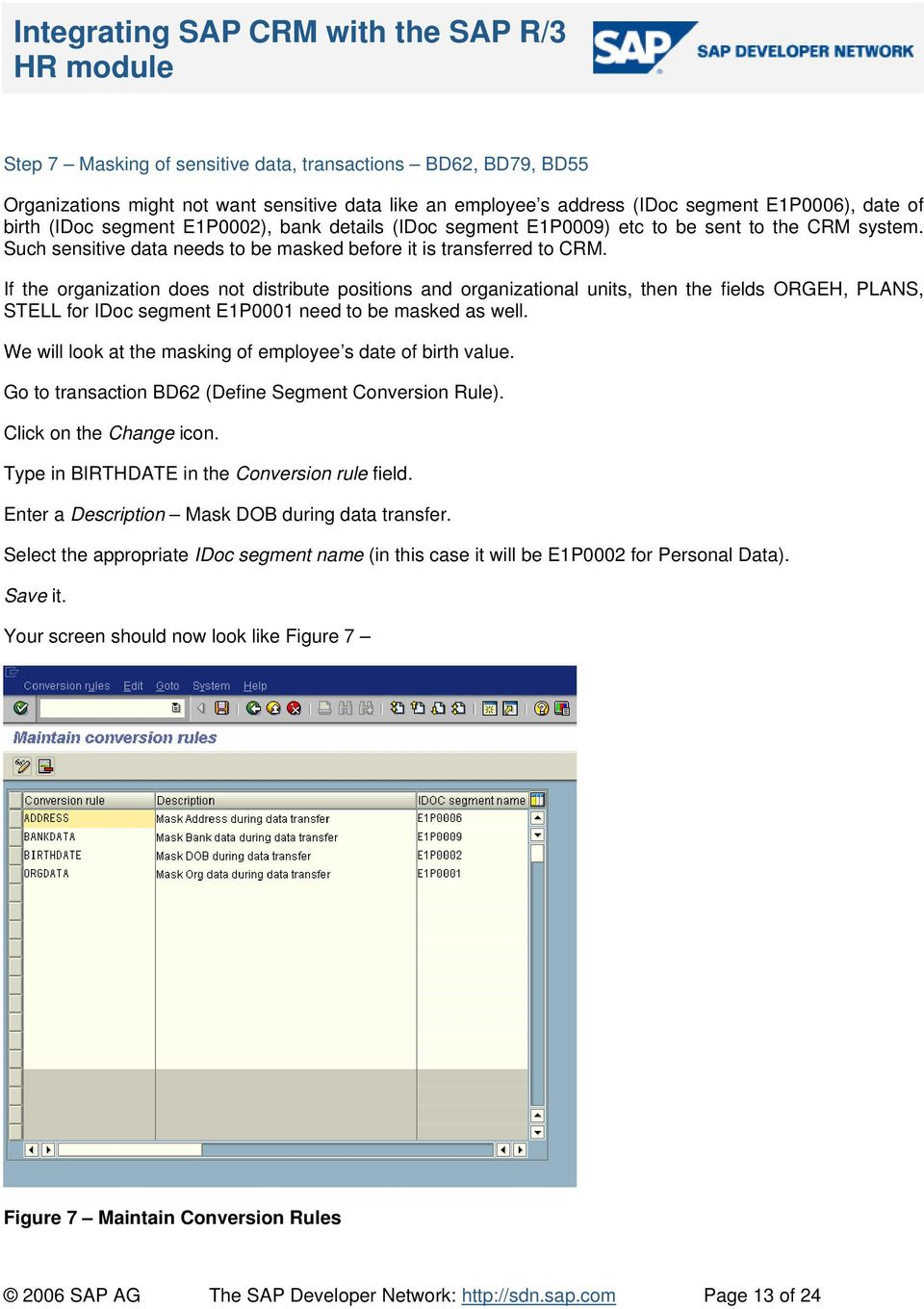 Integrating SAP CRM with the SAP R/3 HR module - PDF
