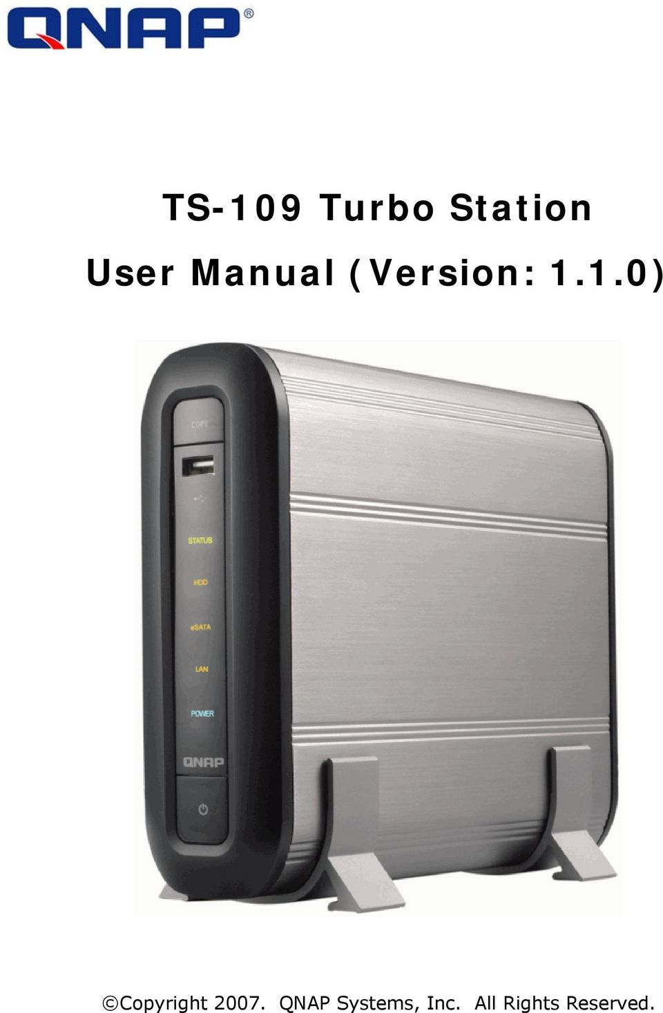 TS-109 Turbo Station User Manual (Version: 1 1 0) - PDF