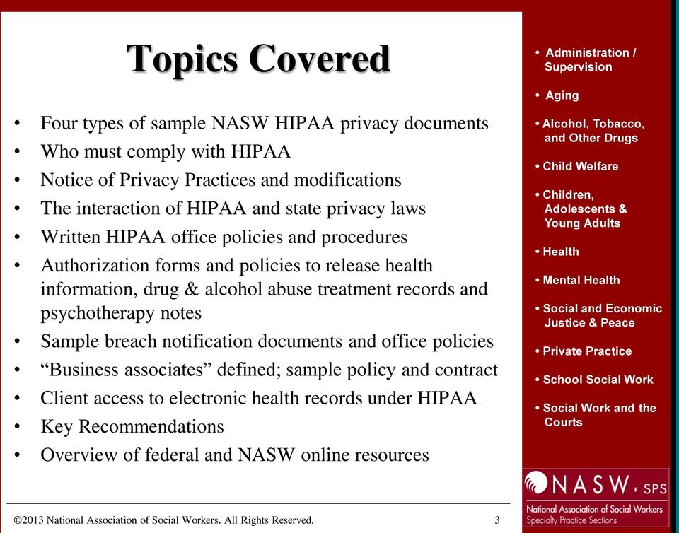 Introducing The Nasw Updated Sample Hipaa Privacy Forms And Policies Pdf Free Download