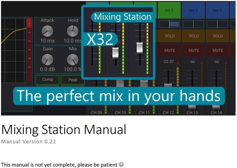 Mixing Station Manual Manual Version This Manual Is Not Yet Complete