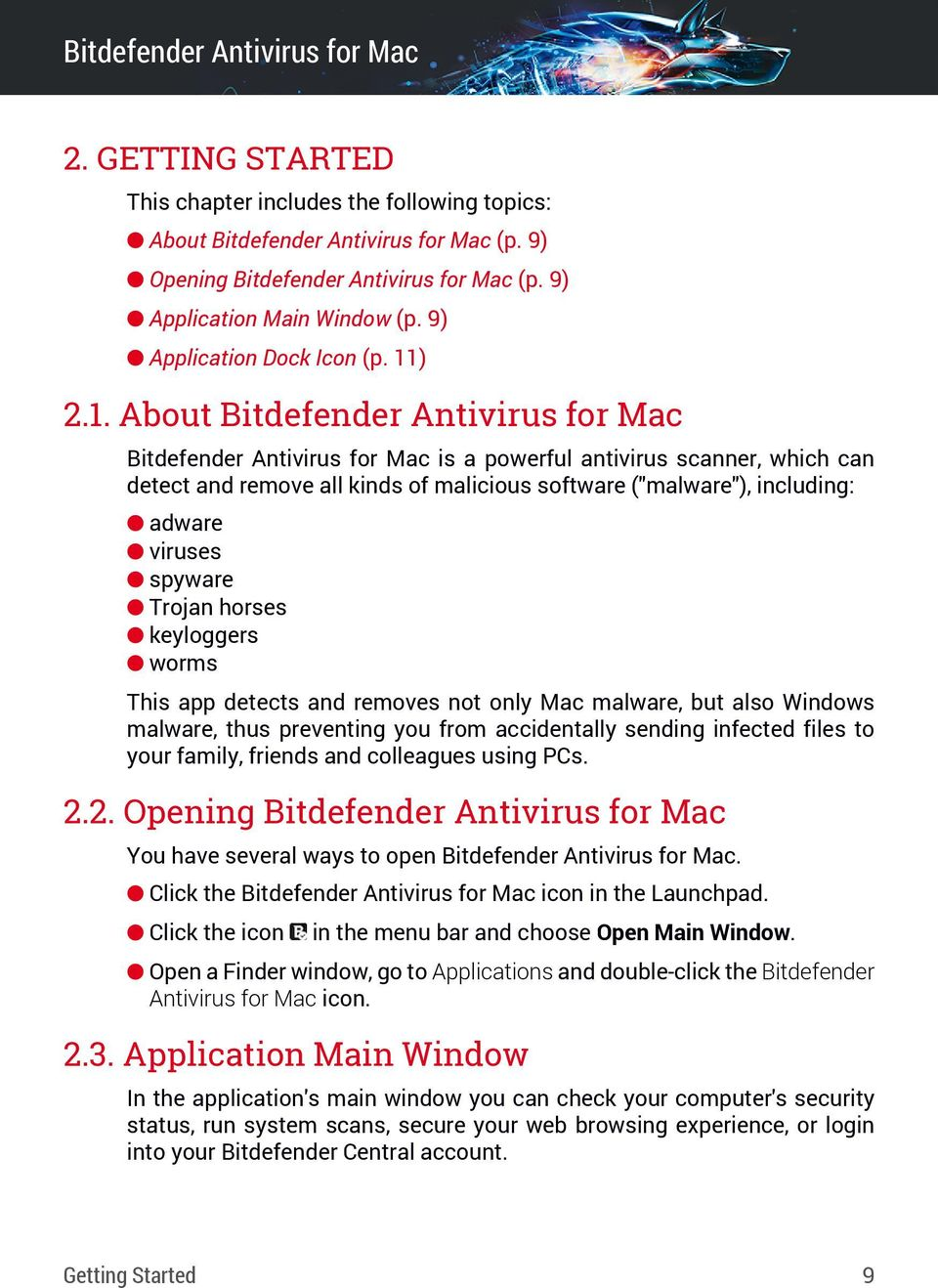 Bitdefender Antivirus for Mac User's Guide - PDF