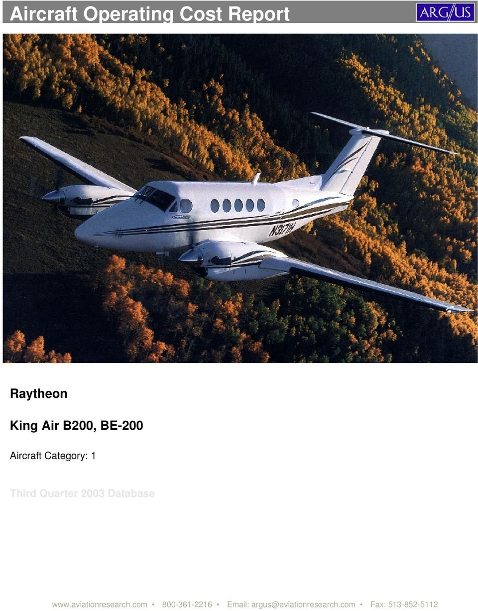 Aircraft Operating Cost Report - PDF