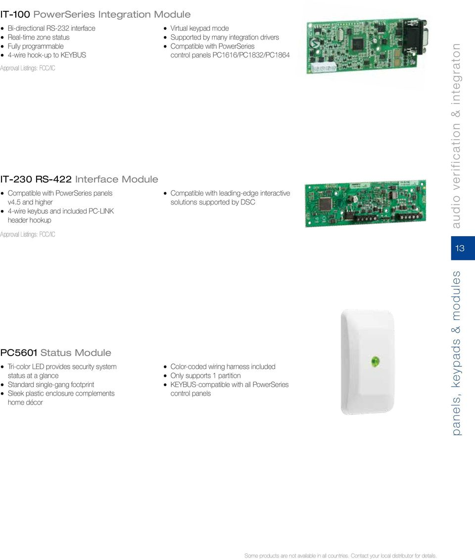 From Tyco Security Products Product Catalog Pdf Tri Color Led Wiring Of A 5 And Higher 4 Wire Keybus Included Pc Link Header Hookup Approval Listings