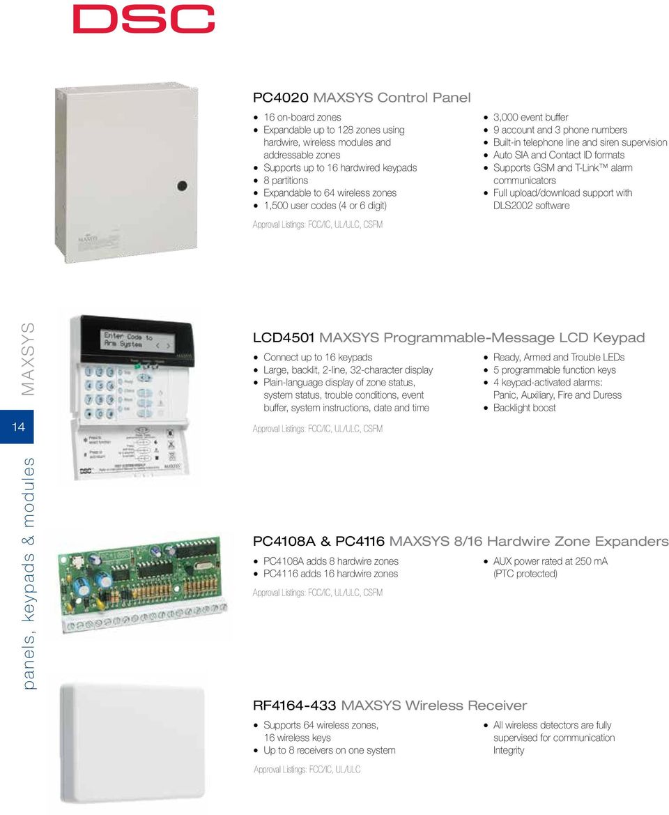 From Tyco Security Products PRODUCT CATALOG - PDF