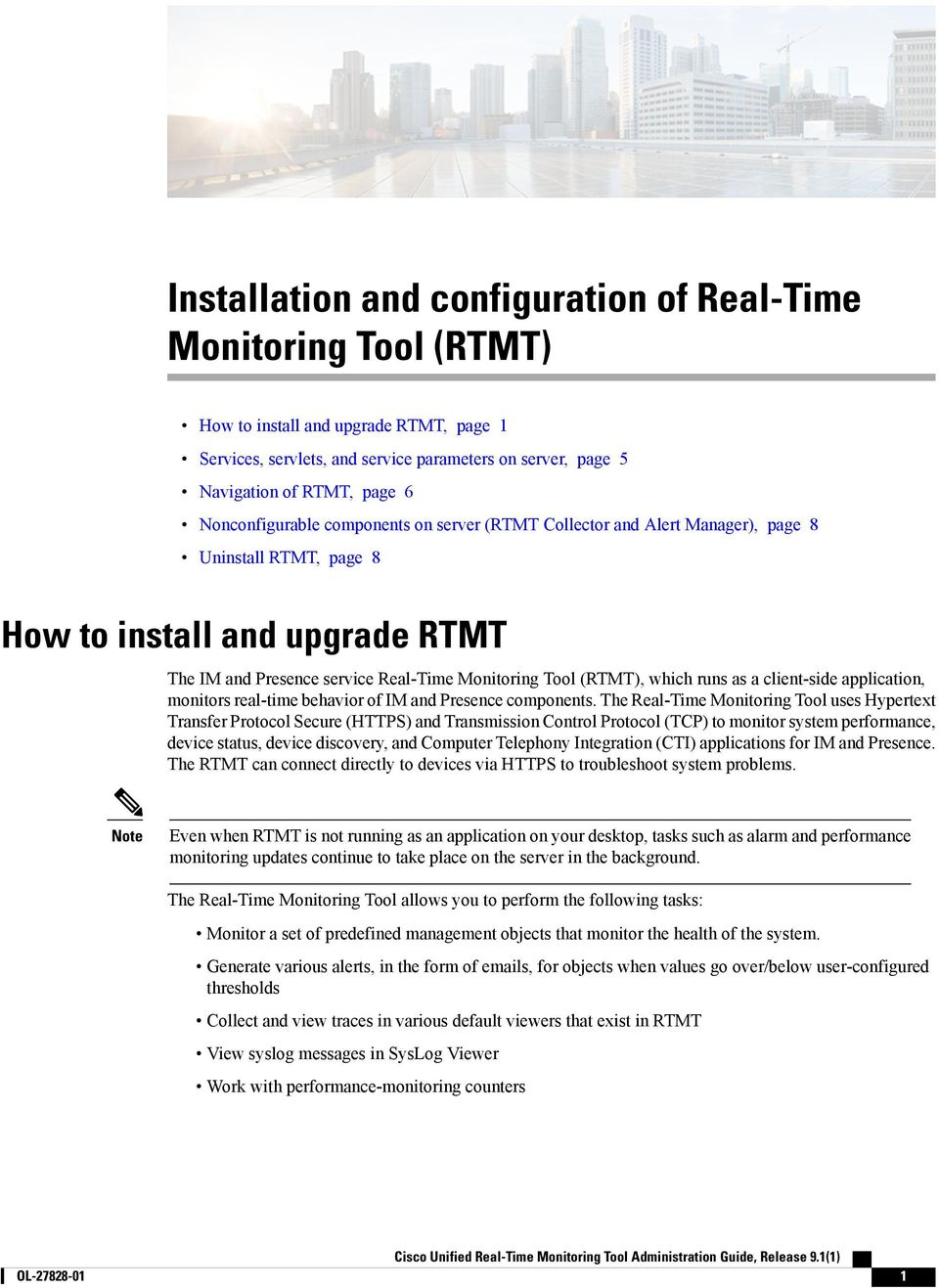 Installation and configuration of Real-Time Monitoring Tool