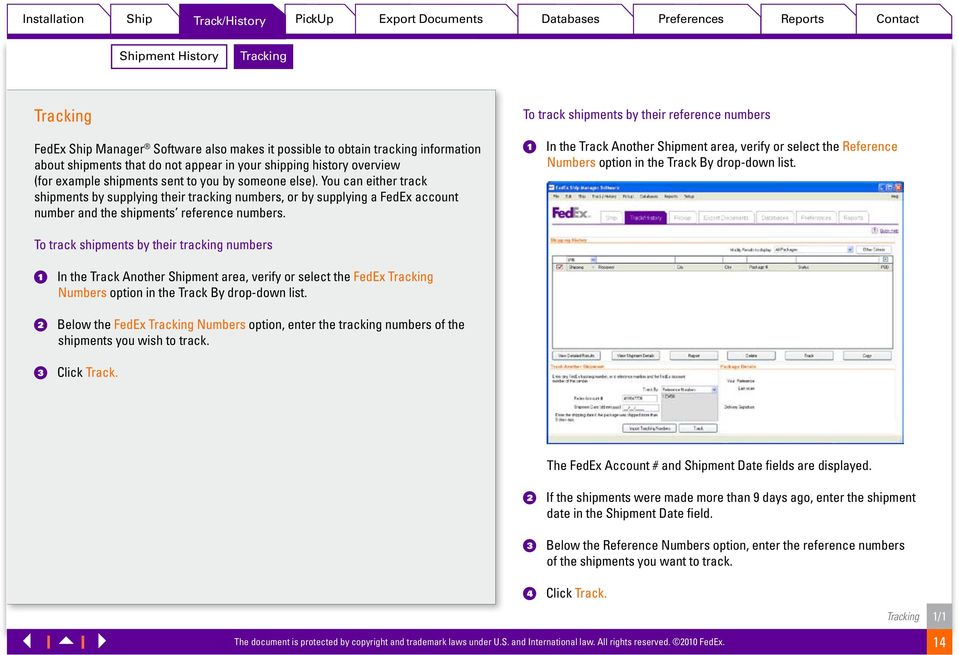 FedEx Ship Manager Software Quick Reference Guide - PDF