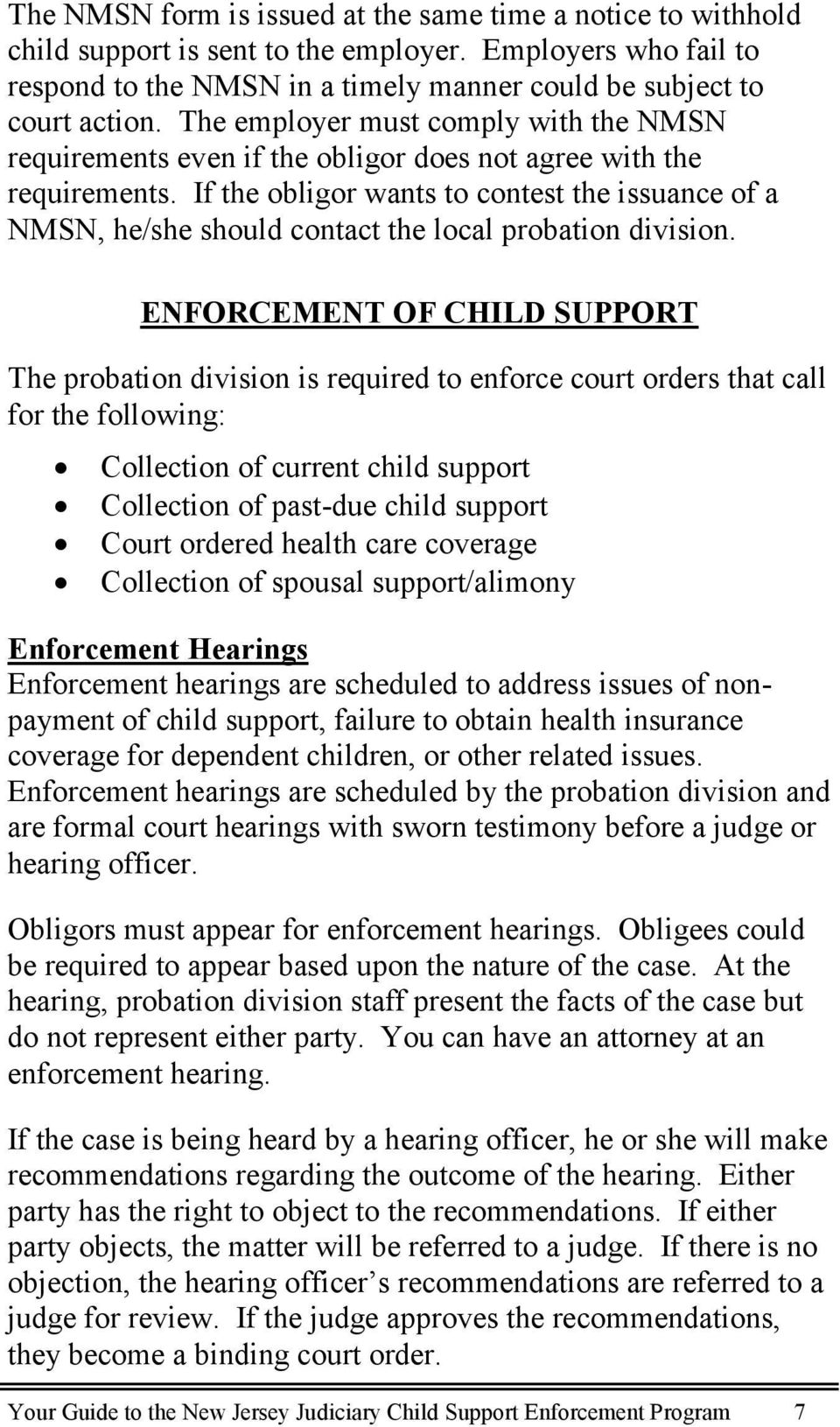 Your Guide To The New Jersey Judiciary Child Support Enforcement