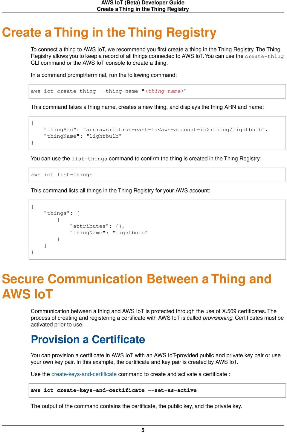 AWS IoT (Beta) Developer Guide - PDF