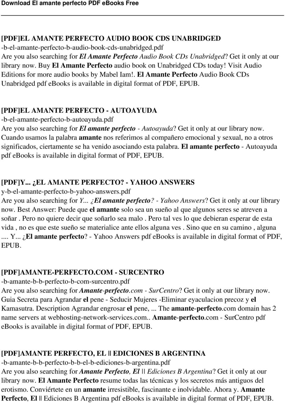 El amante perfecto pdf pdf el amante perfecto audio book cds unabridged pdf ebooks is available in digital format of fandeluxe Images