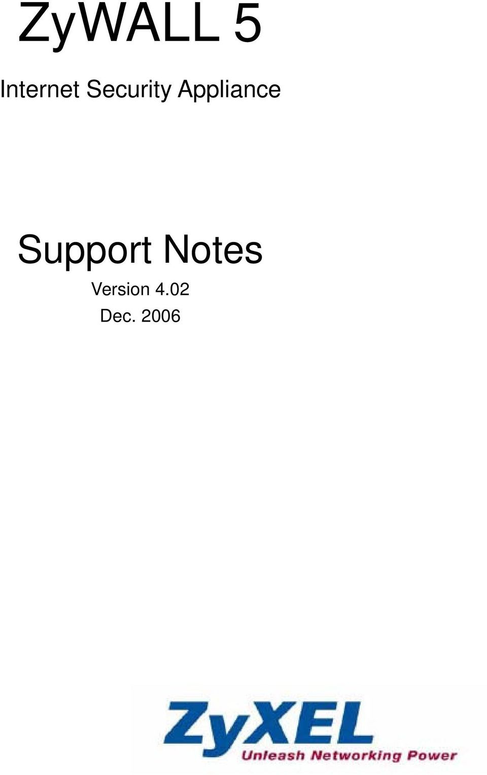 Support Notes