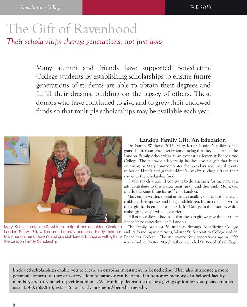 and Donor Report Fall 2013 St  Michael s Guardian Angels - PDF