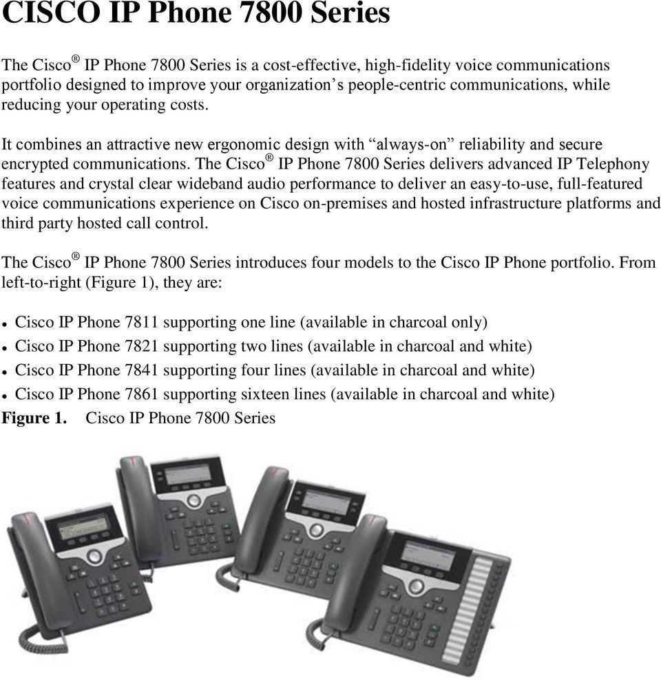 Cisco IP Phones and IP Endpoints - PDF