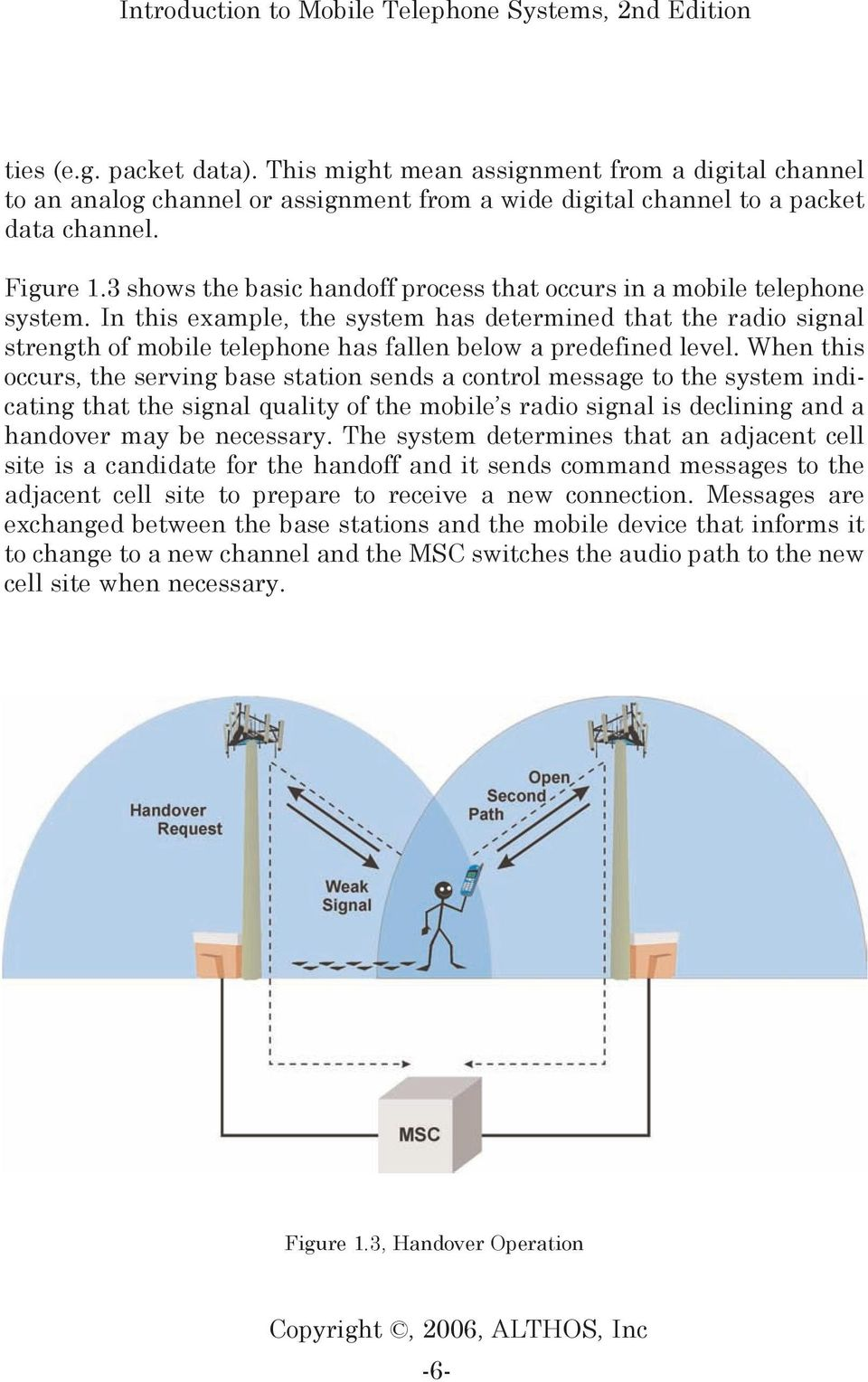 In this example, the system has determined that the radio signal strength of mobile telephone has fallen below a predefined level.