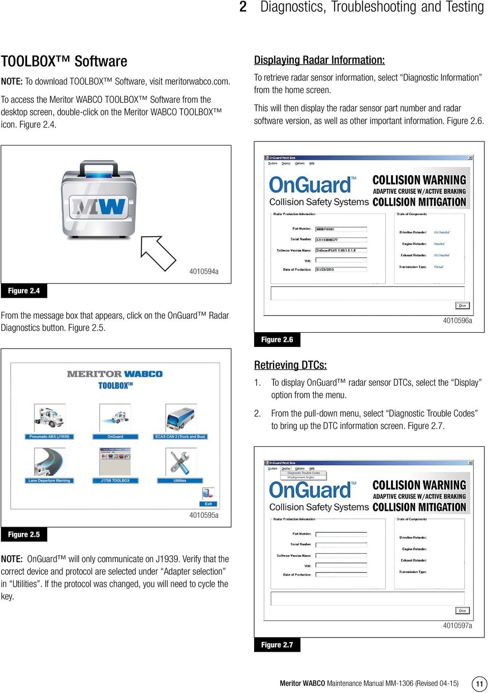 OnGuard Collision Mitigation System - PDF